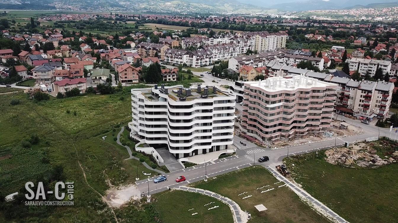 VIDEO: Radovi na izgradnji druge stambene zgrade kompleksa Sarajevo Waves